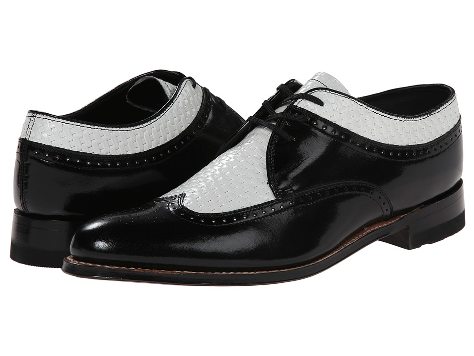 Stacy Adams - Dayton (Black/White) Men's Lace Up Wing Tip Shoes