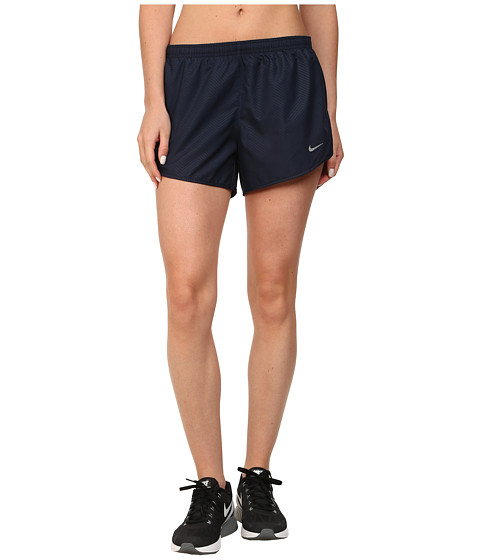 Nike - Modern Embossed Tempo Short (Obsidian/Obsidian/Reflective Silver) Women's Shorts