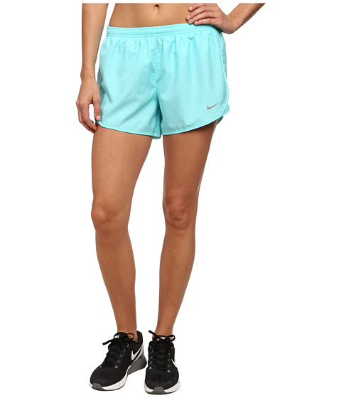 Nike - Modern Embossed Tempo Short (Light Aqua/Light Aqua/Reflective Silver) Women's Shorts