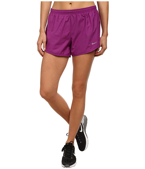 Nike - Modern Embossed Tempo Short (Bold Berry/Bold Berry/Reflective Silver) Women