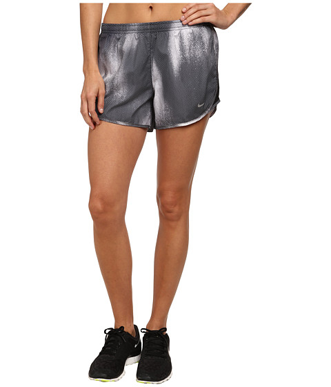Nike - Printed Mod Tempo Short (Black/Reflective Silver) Women's Shorts