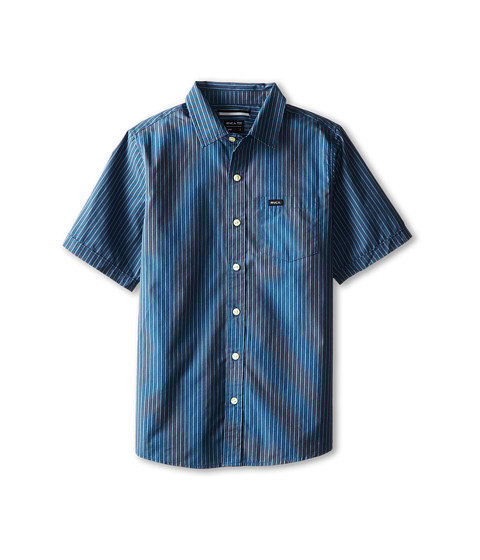 RVCA Kids - Warranty S/S (Little Kids/Big Kids) (Blue Thunder) Boy's Short Sleeve Pullover