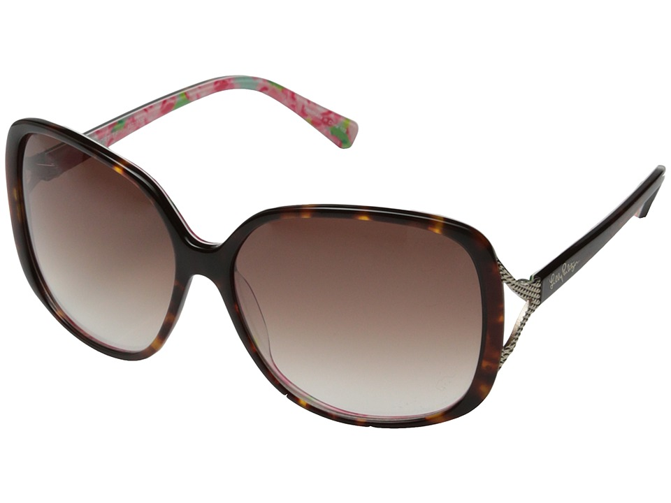 Lilly Pulitzer - Westport (Dark Tortoise/First Impressions/Gradient Brown) Fashion Sunglasses