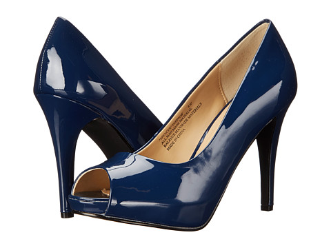 rsvp - Spencer Peep Toe Pump (Navy Patent) High Heels