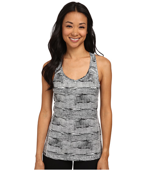 Nike - Printed Miler Tank Top (White/Reflective Silver) Women's Sleeveless