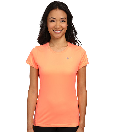 Nike - Miler S/S Crew Top (Sunset Glow/Reflective Silver) Women