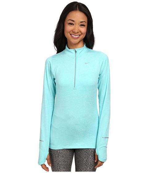 Nike - Element Half-Zip (Light Aqua/Heather/Persian Violet/Reflective Silver) Women