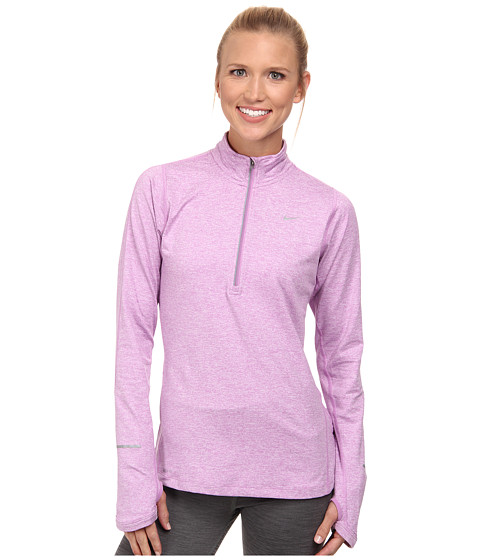 Nike - Element Half-Zip (Violet Shock/Heather/Key Lime/Reflective Silver) Women's Long Sleeve Pullover