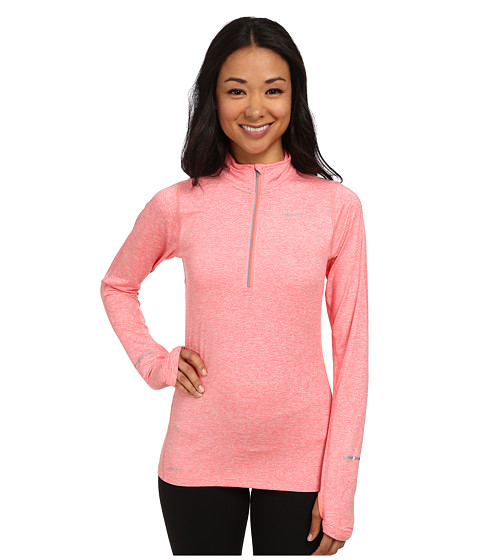 Nike - Element Half-Zip (Sunblush/Heather/Daring Red/Reflective Silver) Women