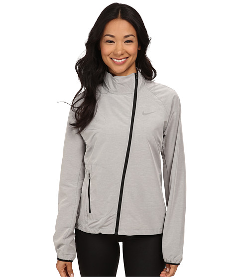 Nike - Run Fast Jacket (Dark Grey/Pure/Reflective Silver) Women's Coat