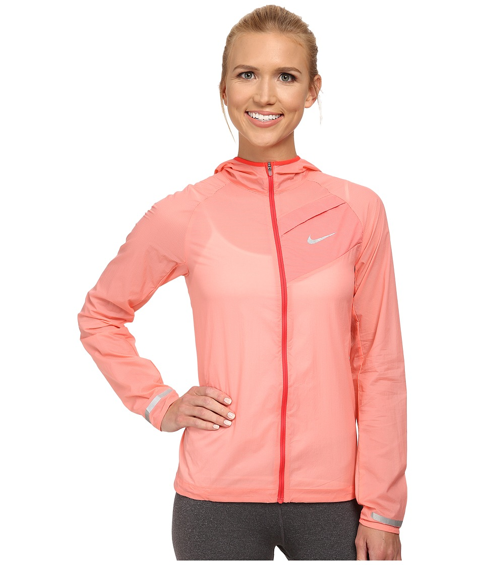 Nike - Impossibly Light Jacket (Sunblush/Daring Red/Reflective Silver) Women's Coat