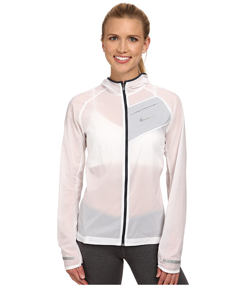 Nike - Impossibly Light Jacket (White/Classic Charcoal/Reflective Silver) Women's Coat