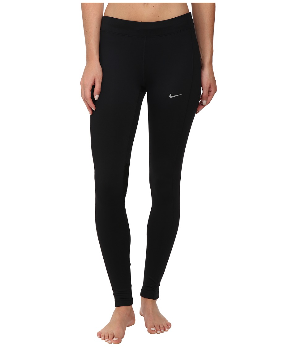 Nike - Essential Running Tight (Black/Black/Black/Reflective Silver) Women's Workout