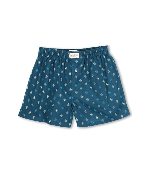 Original Penguin - Penguin Woven Boxer (Legion Blue) Men's Underwear