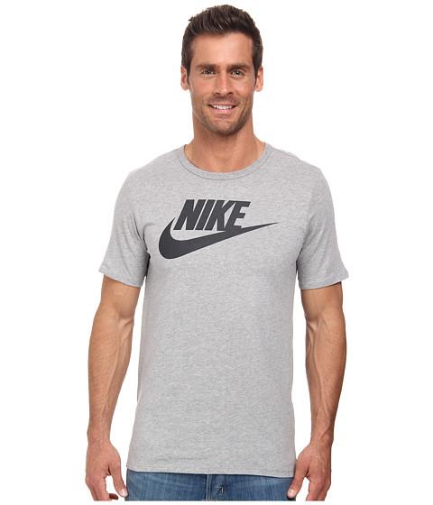 Nike - Futura Icon Tee (Dark Grey Heather/Black) Men