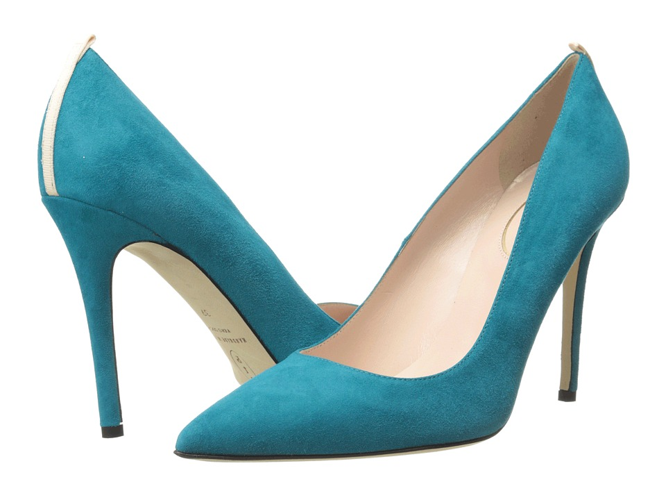 SJP by Sarah Jessica Parker - Fawn 100mm (Turquoise) Women's Shoes