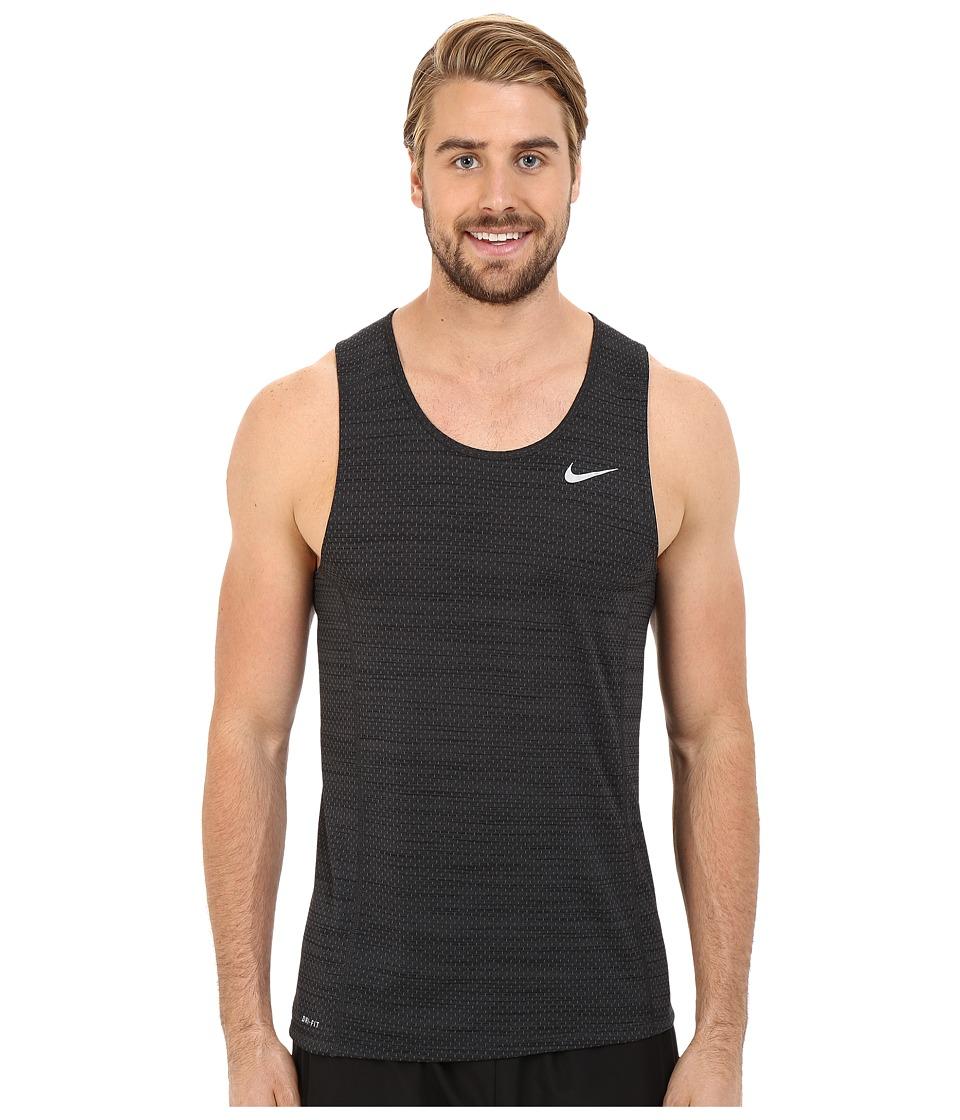 Nike - Dry Miler Running Tank (Black Pine/Black/Reflective Silver) Men's Sleeveless