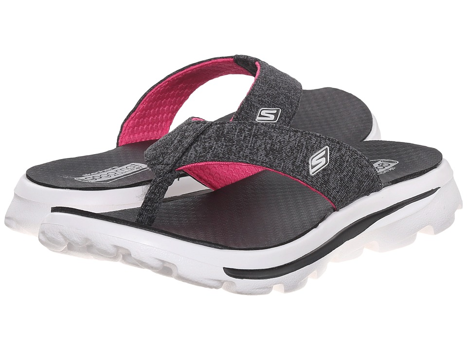 SKECHERS KIDS - Go Walk Move - Solstice 81063L (Little Kid/Big Kid) (Black/Pink) Girl's Shoes