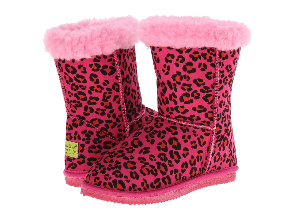 Western Chief Kids - Cheetah Bootie (Toddler/Little Kid) (Pink) Girls Shoes