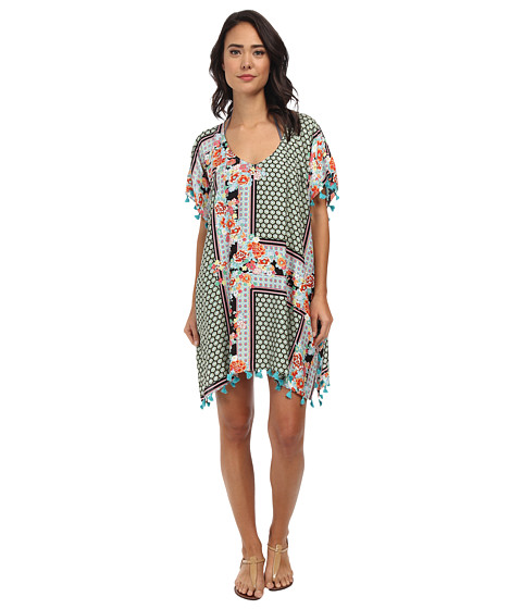 Seafolly - Dahlia Kaftan Cover-Up (Black) Women