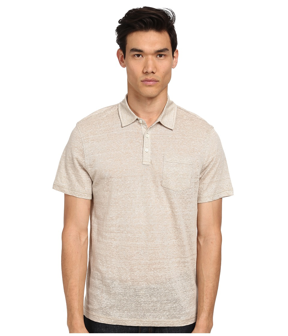 Michael Kors - Linen Cotton Polo (Sand) Men