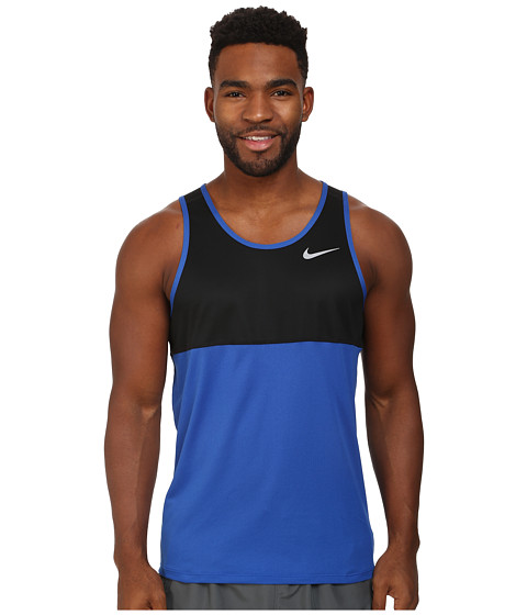 Nike - Racer Singlet (Game Royal/Black/Game Royal/Reflective Silver) Men