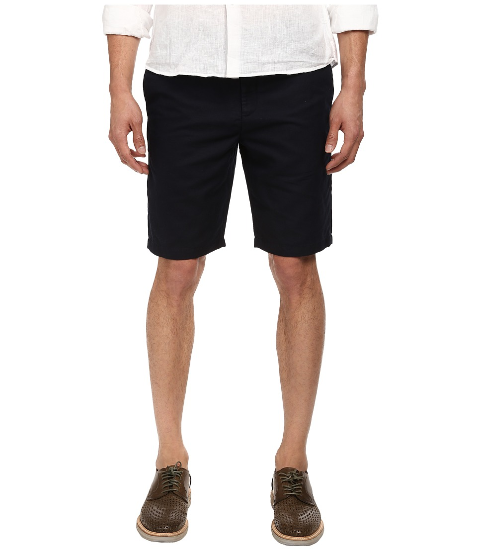 Michael Kors - Tailored Cotton Linen Short (Midnight) Men's Shorts