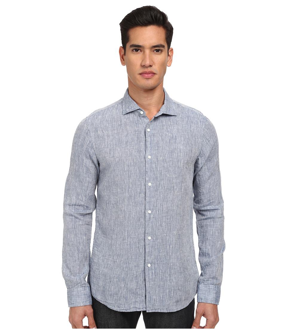 Michael Kors - Slim Linen Shirt (Indigo) Men