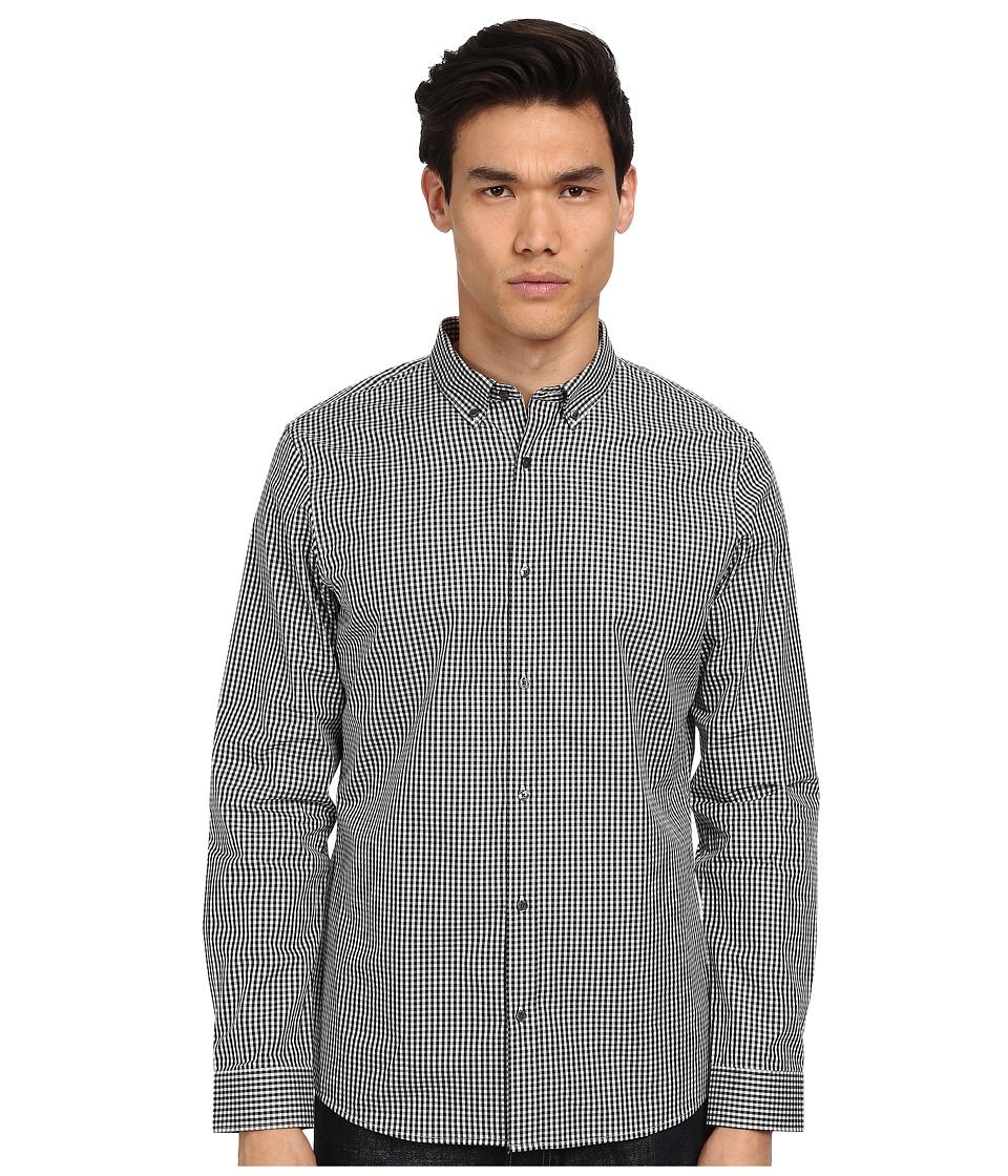 Michael Kors - Slim Seith Gingham Shirt (Black) Men's Clothing