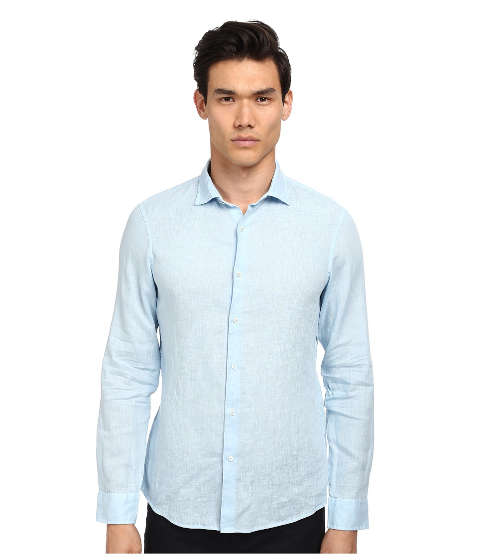 Michael Kors - Slim Garment Dye Linen Shirt (Mist) Men's Clothing