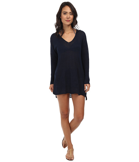 Seafolly - Sun Lounger Hoodie Cover-Up (Indigo) Women's Swimwear