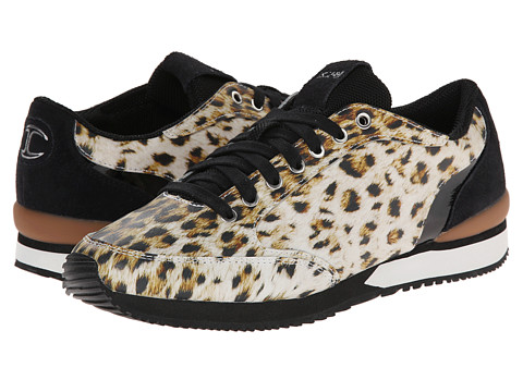 Just Cavalli - Leopard Print Leather Runner (Natural Variant) Men's Shoes