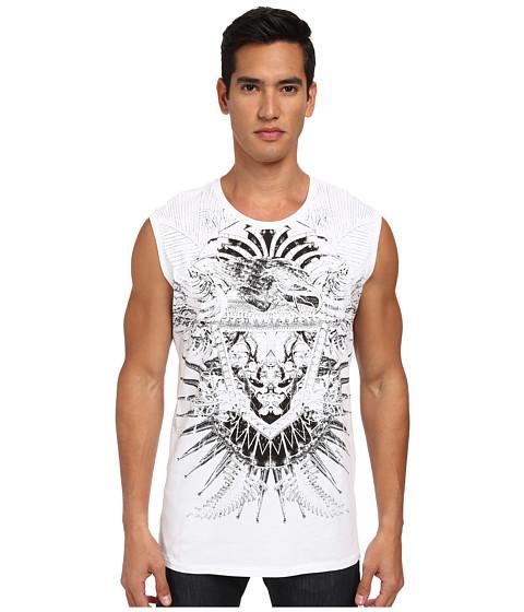 Just Cavalli - Eagle Print Short Sleeve Tank (White) Men's Sleeveless