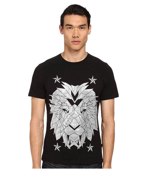 Just Cavalli - Digital Lion Print T-Shirt (Black) Men