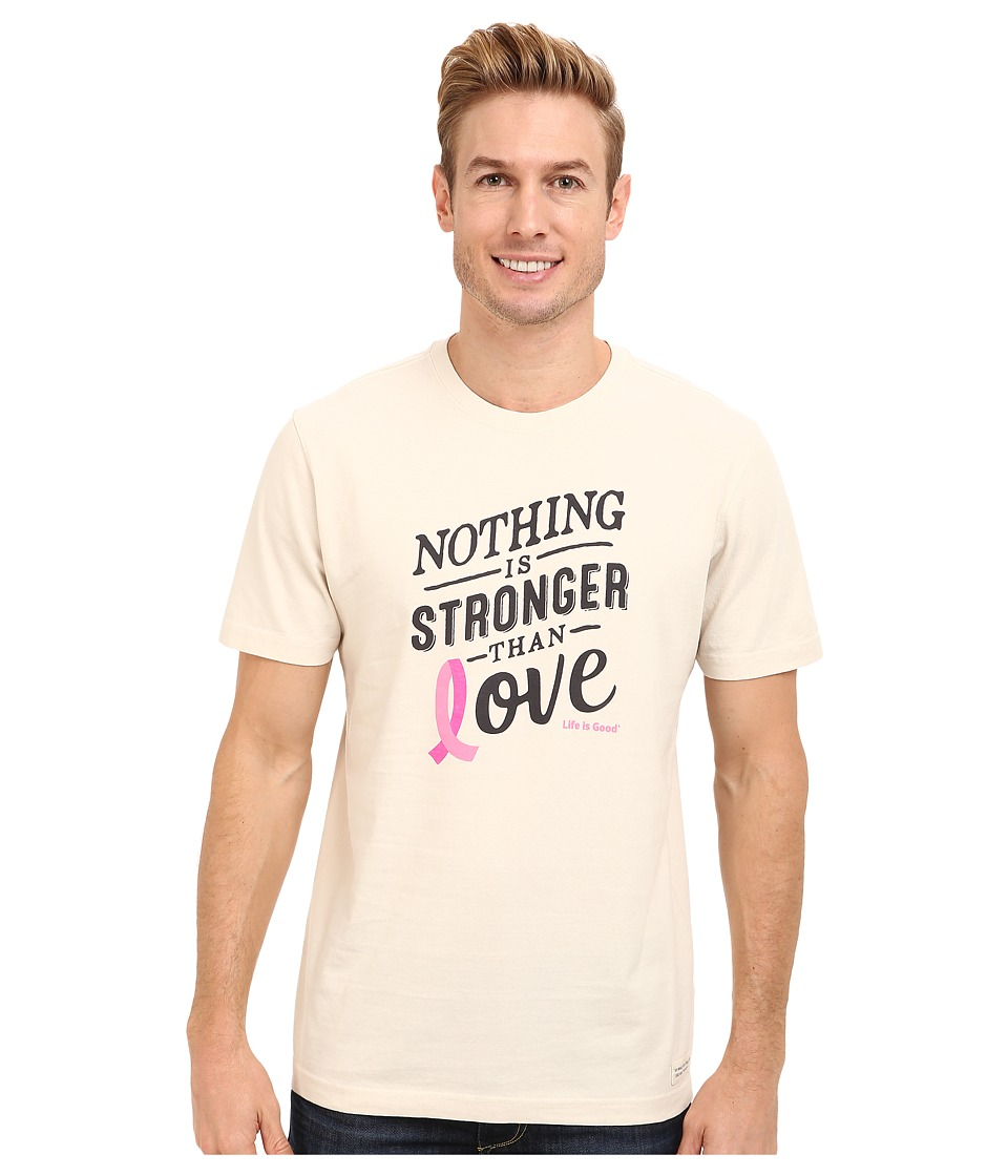 Life is good - Stronger Ribbon Tee (Putty White) Men's T Shirt