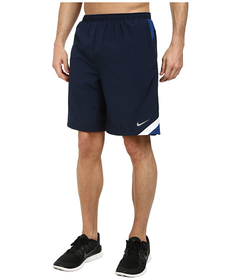 Nike - 9 Attack Short (Obsidian/Gym Blue/White/Reflective Silver) Men's Shorts