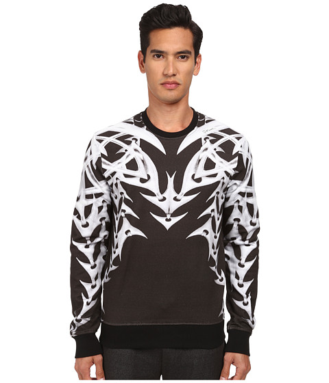 Just Cavalli - Chain Print Sweatshirt Sweater (Black Variant) Men's Sweater