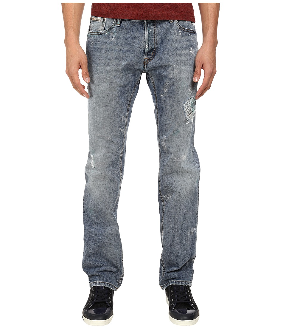 Just Cavalli - Distressed Regular Fit Denim in Blue (Blue) Men's Jeans