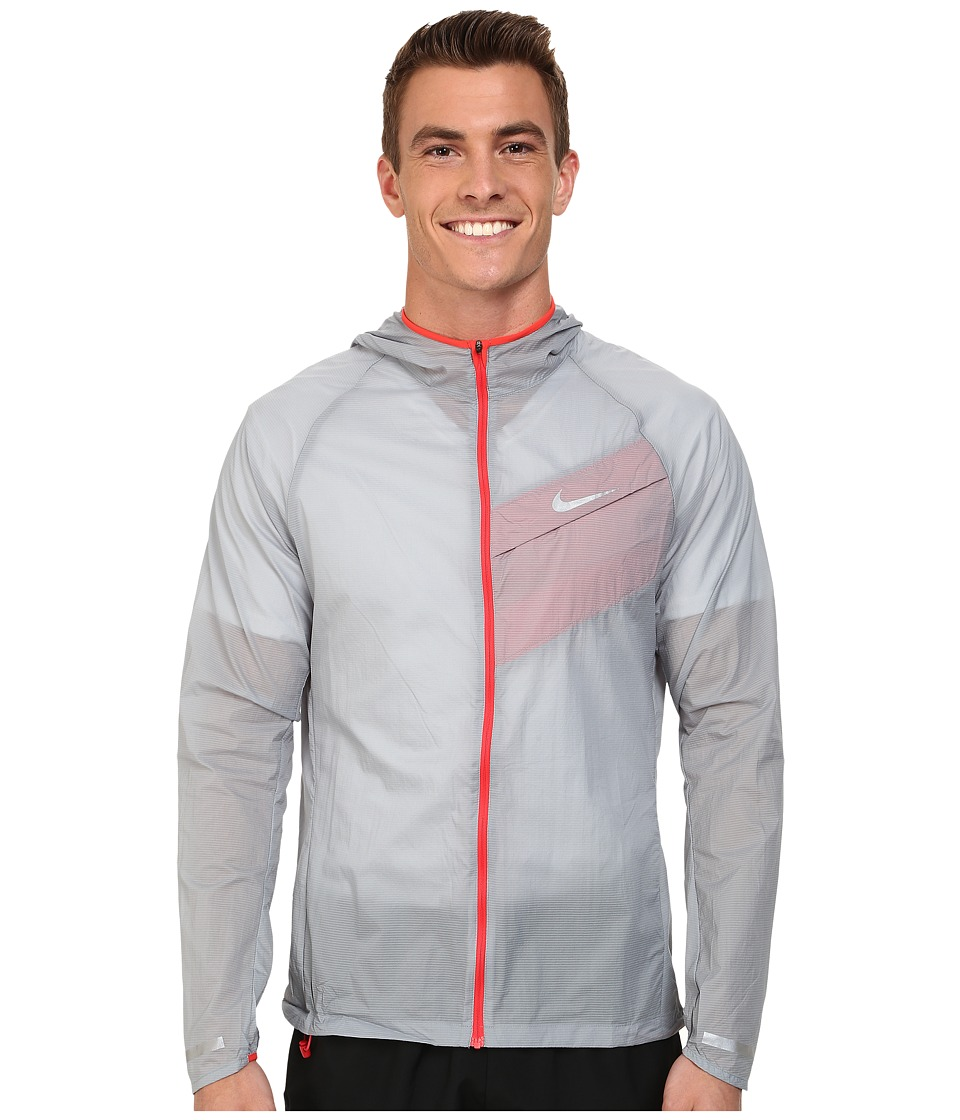 Nike - Impossibly Light Jacket (Dove Grey/Daring Red/Reflective Silver) Men's Coat