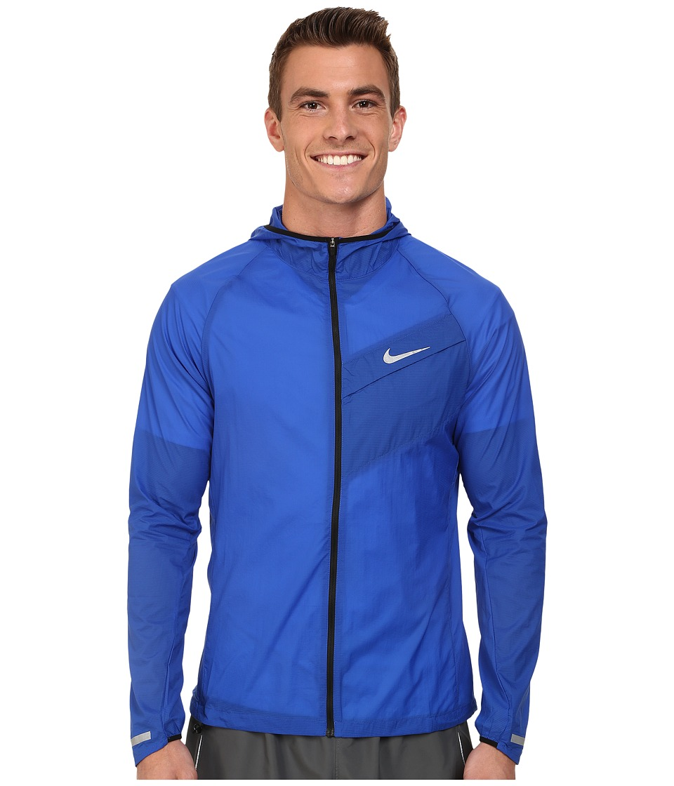 Nike - Impossibly Light Jacket (Game Royal/Black/Reflective Silver) Men's Coat