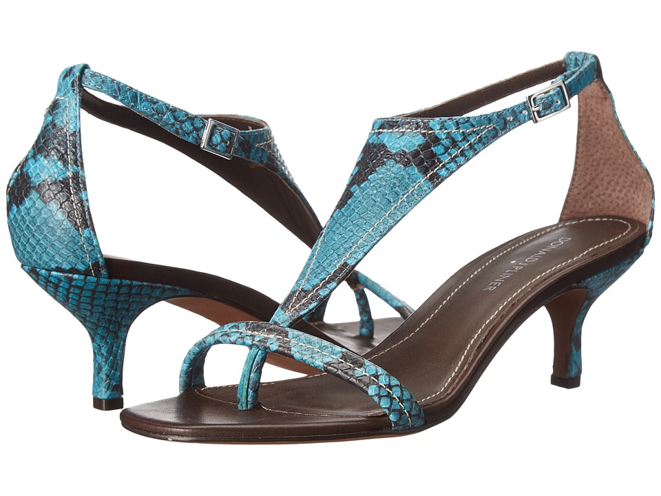 Donald J Pliner - Monti (Turquoise Multi Snake Print) Women's Sandals