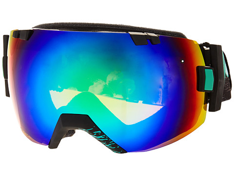 Smith Optics - IO (Black Frame/Green Sol-X/Red Sensor Lens) Snow Goggles