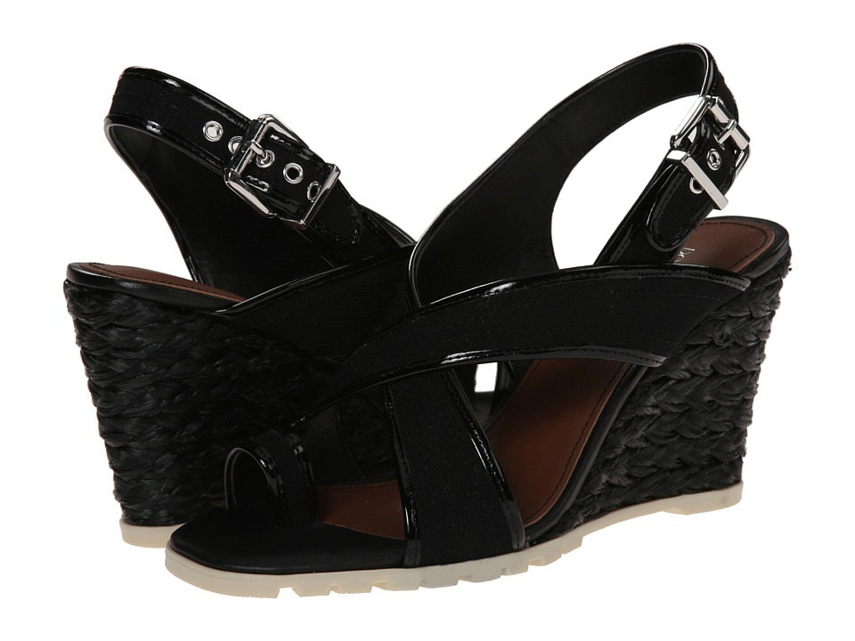 Donald J Pliner - Burgos (Black Mesh Elastic) Women's Wedge Shoes