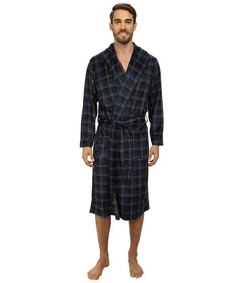 Jockey - Matte Silky Fleece Robes (Black/Navy/White) Men's Robe