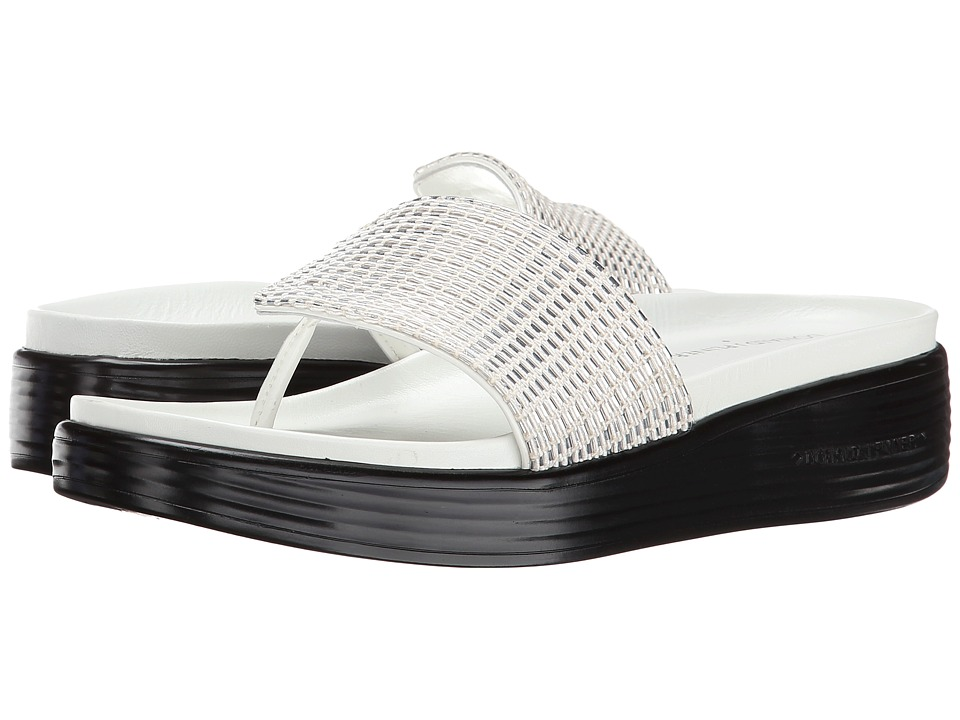 Donald J Pliner - Fifi15 (White Woven Metallic) Women's Wedge Shoes