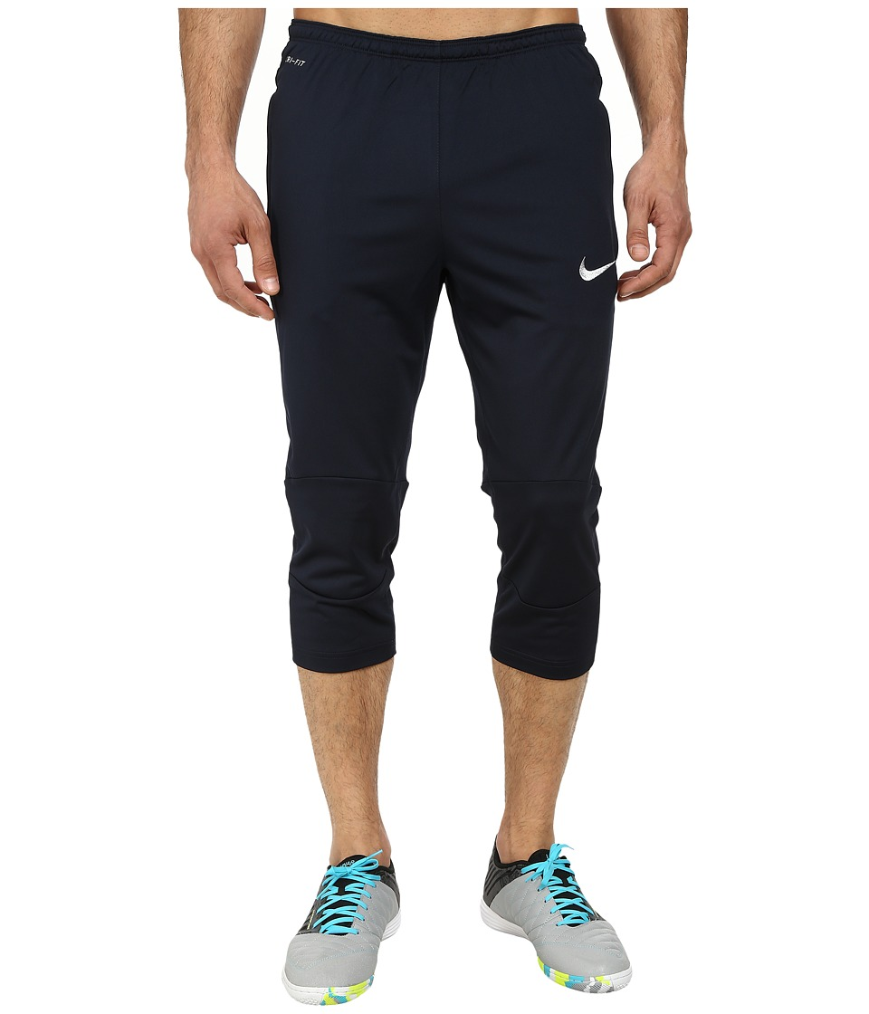 Nike - Squad Attack 3/4 Tech Pant WP (Dark Obsidian/Metallic Silver) Men's Workout