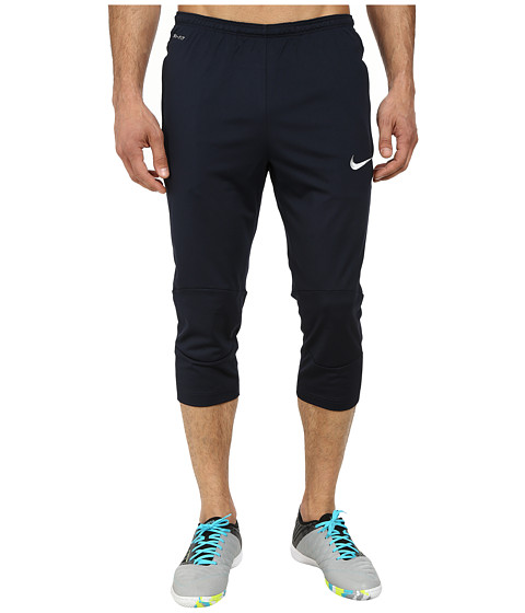 Nike - Squad Attack 3/4 Tech Pant WP (Dark Obsidian/Metallic Silver) Men