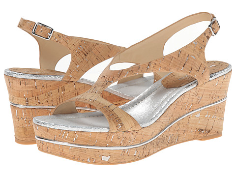 Donald J Pliner - Delon (Silver-Natural Distrissed Met Cork) Women