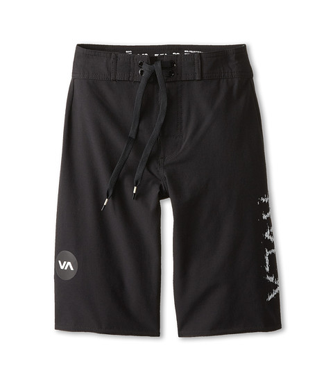 RVCA Kids - Register Trunk (Big Kids) (Black) Boy's Swimwear