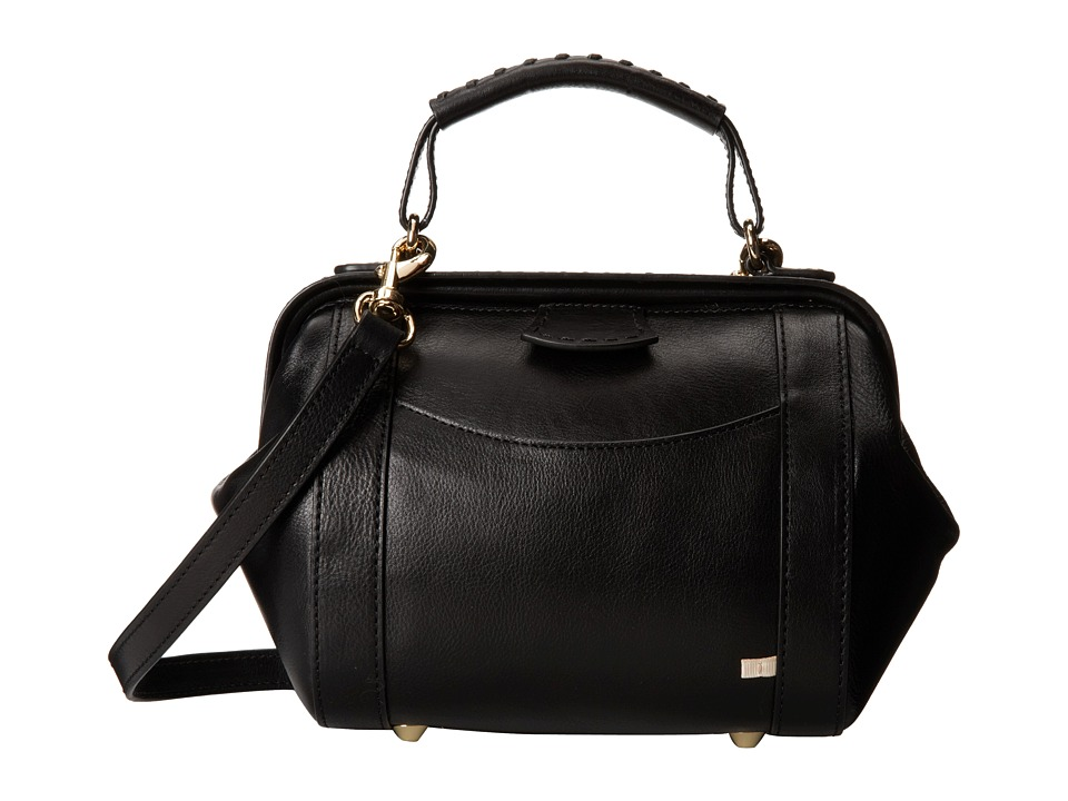 SJP by Sarah Jessica Parker - Waverly (Black Leather) Cross Body Handbags